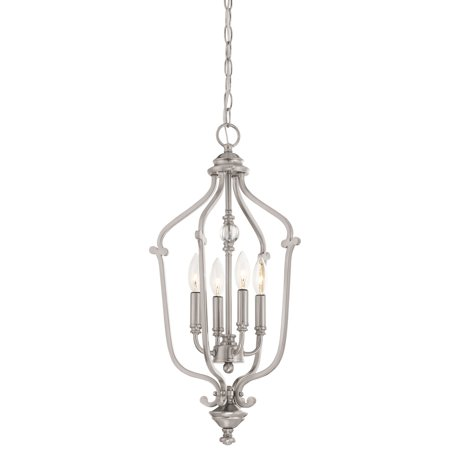 Minka Lavery Savannah Row 4 Light Chandelier - Brushed Nickel Brushed Nickel Six Light Chandelier
