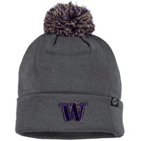 Washington Huskies Zephyr Youth Cuffed Pom Knit Hat - Gray - OSFA