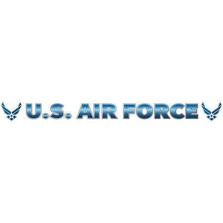- US Air Force Logo Window Strip Decal (20 Inch)