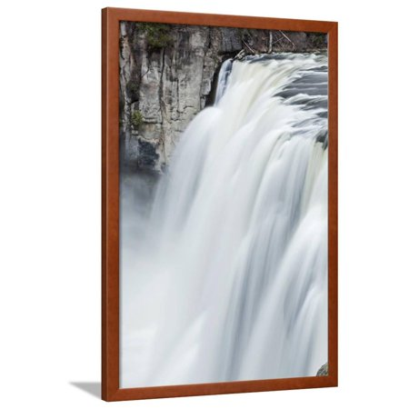 Upper Mesa Falls, Targhee National Forest Framed Print Wall Art By Paul Souders