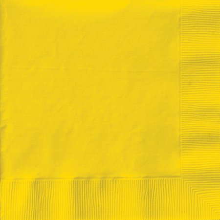 Creative Expressions Beverage Napkins - 50-Pack, School Bus - Yellow Napkins