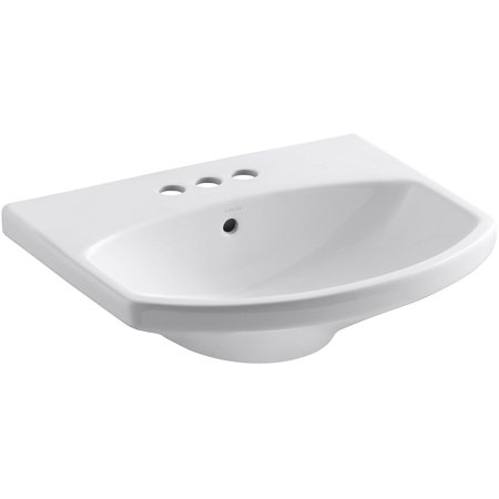 Kohler K 2363 4 0 Cimarron Bathroom Sink Basin White