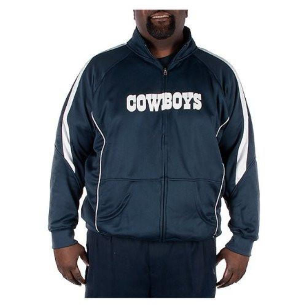 Dallas Cowboys Big and Tall Wick Navy Track Jacket by G-III Sports