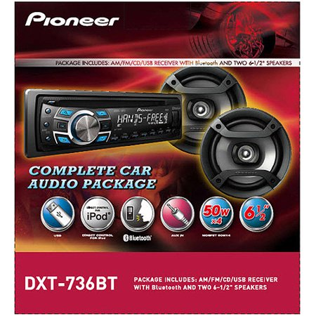 Cheap Car Audio Packages >> Pioneer Dxt 736bt Complete Car Audio Package