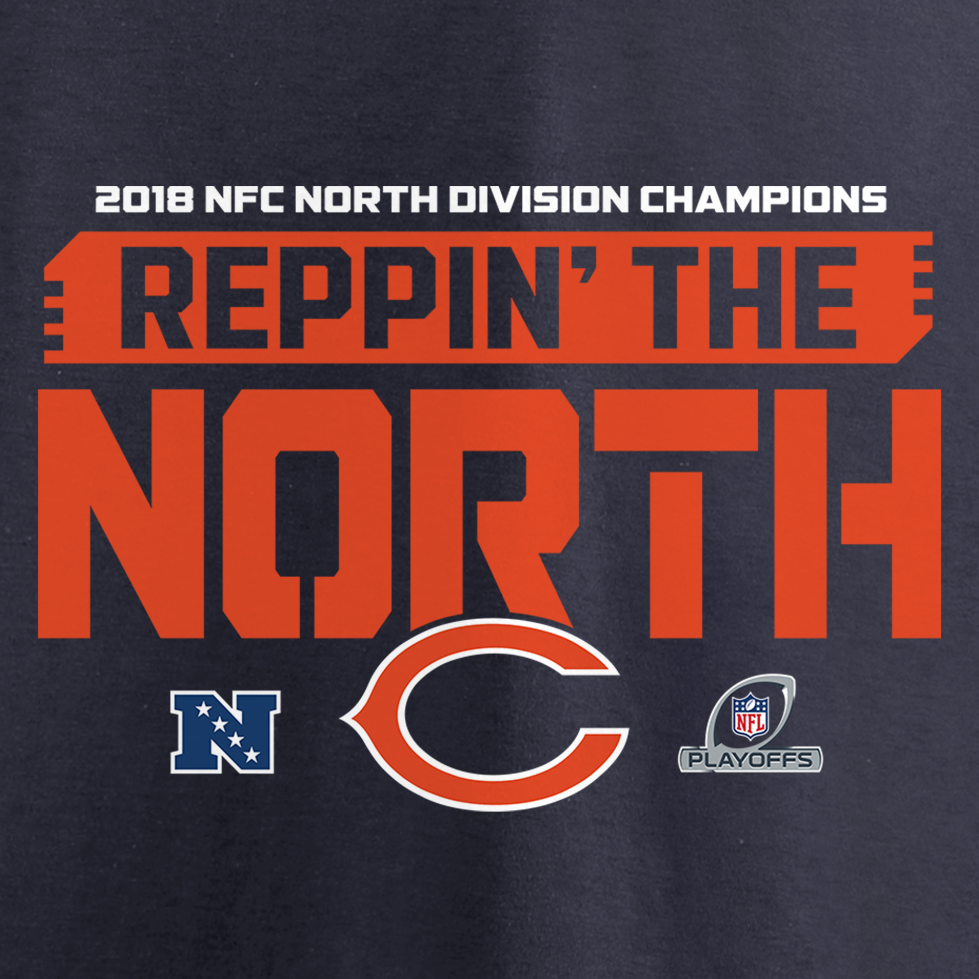 ce10f51a4a9 Chicago Bears NFL Pro Line by Fanatics Branded 2018 NFC North Division  Champions Fair Catch Pullover Hoodie - Navy - Walmart.com