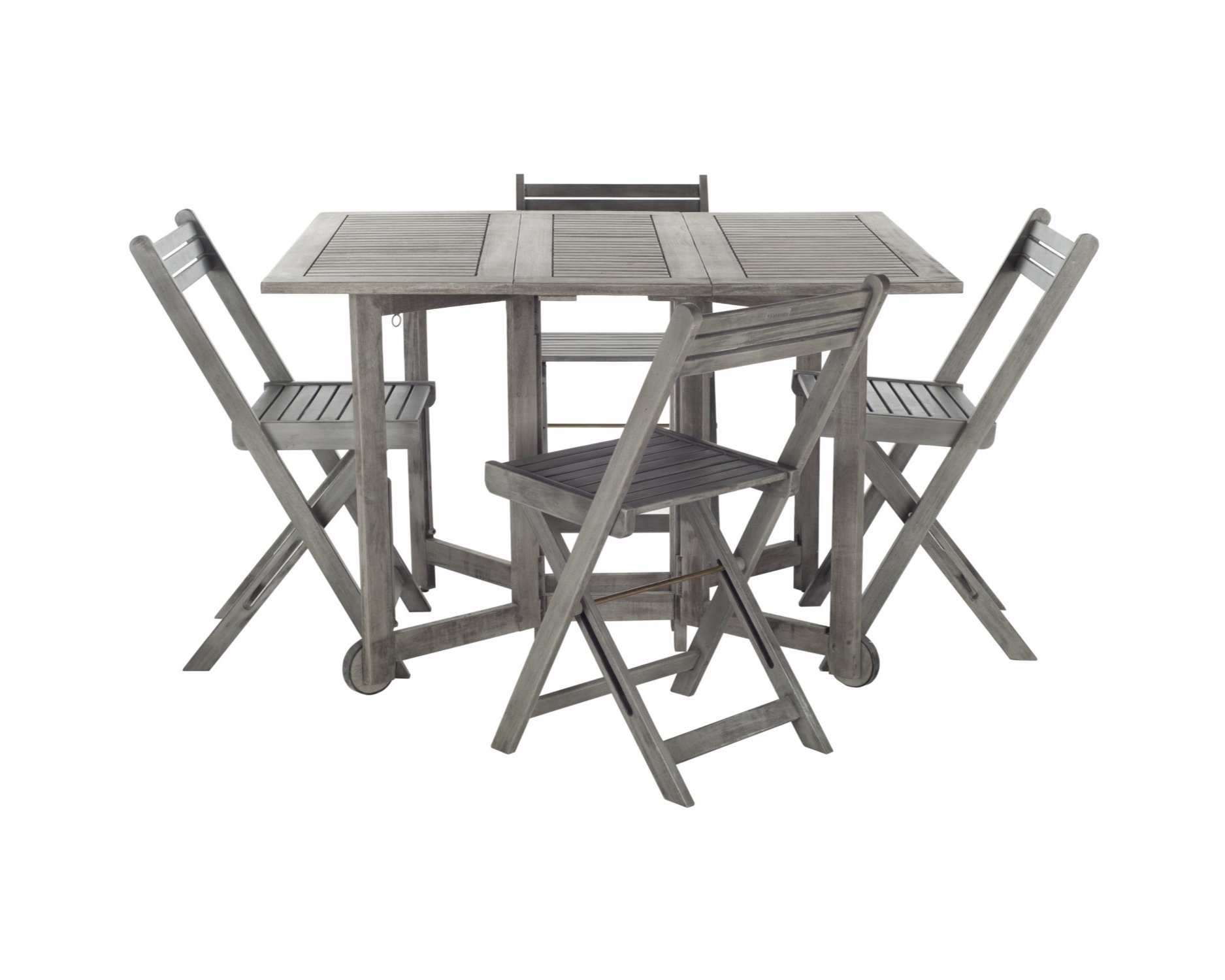 Safavieh Arvin Wood 5 Piece Folding Outdoor Dining Room Set by Safavieh