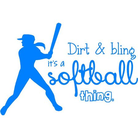 Softball Wall Lettering | Vinyl Girls Decal / Decor | Art Teen Sports Room Quote | 20