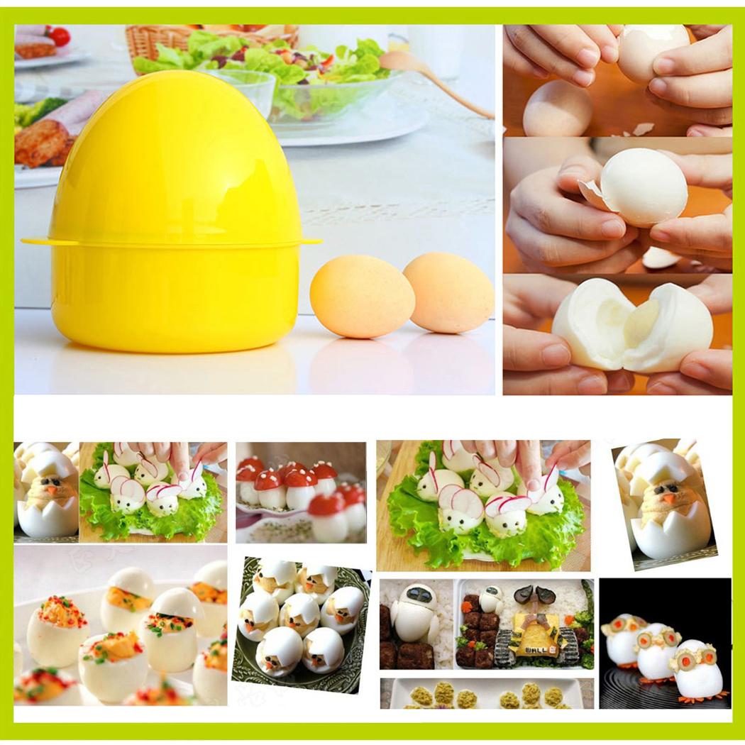 Egg Poacher,Justdolife Easy 4-Egg Microwave Boiler Rapid Eggs Cooker Egg Steamer Egg Cooking Tool Kitchen Supply