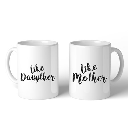 Like Daughter Like Mother White Mom Daughter Matching Mug Mom Gifts ()