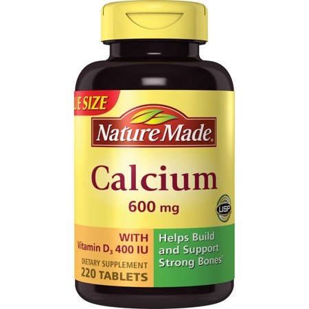 Nature Made Calcium (Carbonate) 600 mg. w/D Tablets Mega (Side Effects Of Calcium Carbonate With Vitamin D)