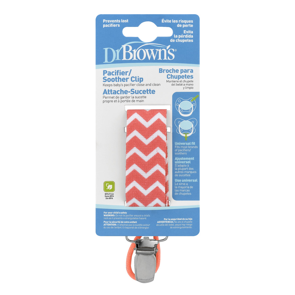 Dr Brown's Pacifier/Soother Clip, 1.0 CT