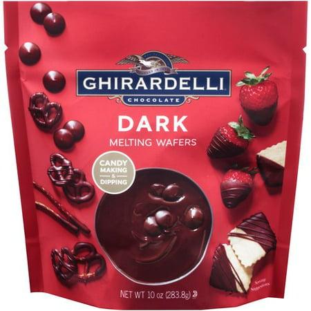 (2 Pack) Ghirardelli Chocolate Dark Melting Wafers, 10 oz (Chocolate Bar For Melting)