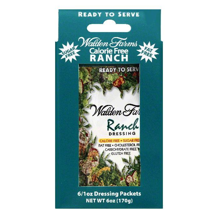 Walden Farms Packets Ranch Dressing, 6 ea (Pack of 12)