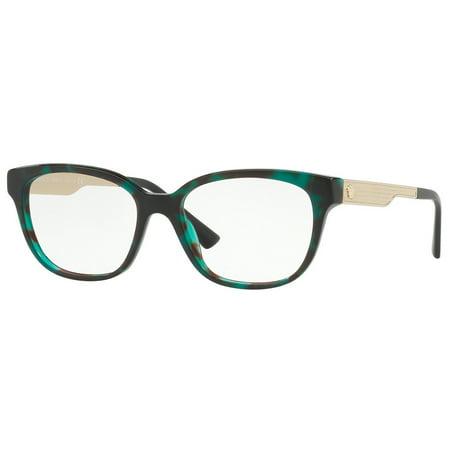 VERSACE Eyeglasses VE3240 5076 54mm Green Havana / Demo Lens