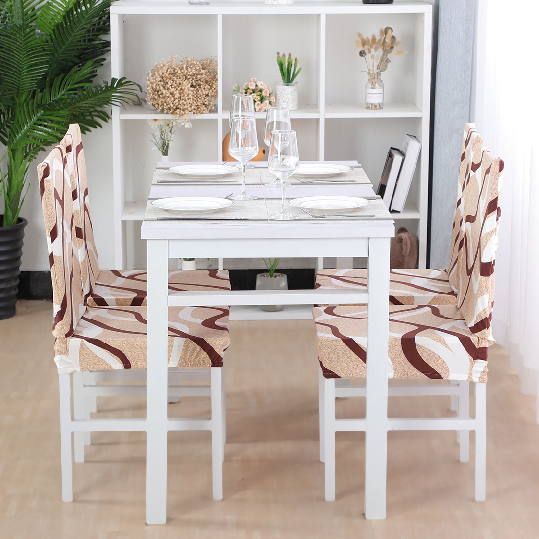 Elastic Short Chair Covers For Kitchen Dining Room Set Of 4 Walmart Com Walmart Com