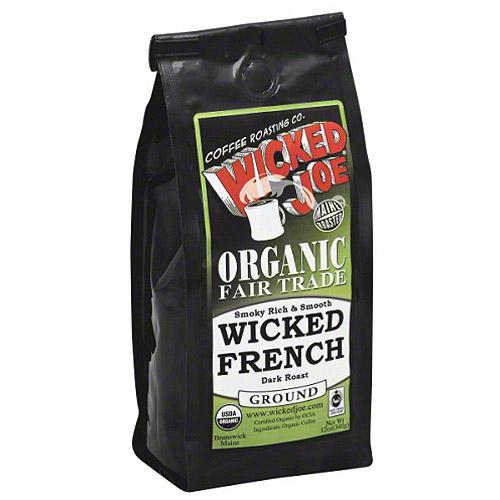 Wicked Joe Wicked French Medium Roast Ground Coffee, 12 oz, (Pack of 6)