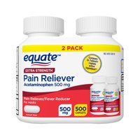Equate Extra Strength Pain Reliever Acetaminophen 500mg Caplets, 2x250ct