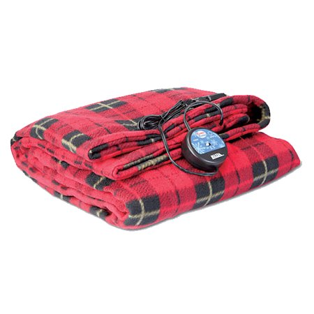 Comfy Cruise 12 Volt Heated Travel Blanket Red Plaid