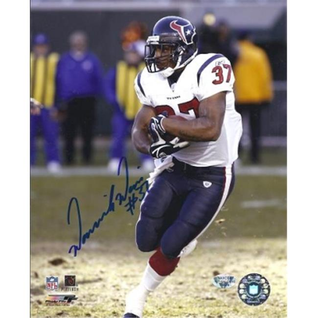 Dominick Davis Autographed Houston Texans 8X10 Photo