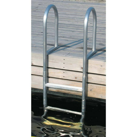 Aluminum 12 Volt Outdoor Step - Dock Edge Welded Aluminum Fixed Dock Ladder