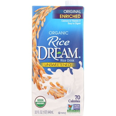 (2 Pack) Rice Dream Enriched Original Organic Rice Drink, 32 fl