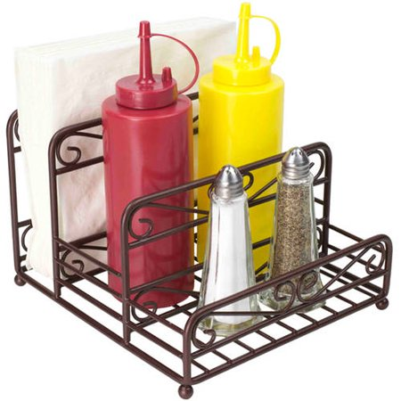 Bronze Utensil Holder - Home Basics Scroll Collection Condiment Caddy, Bronze