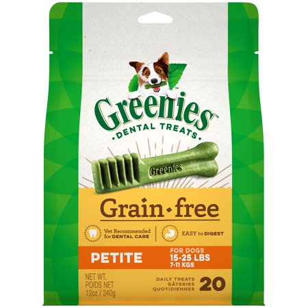 GREENIES Grain Free Petite Natural Dental Dog Treats, 12 oz. Pack