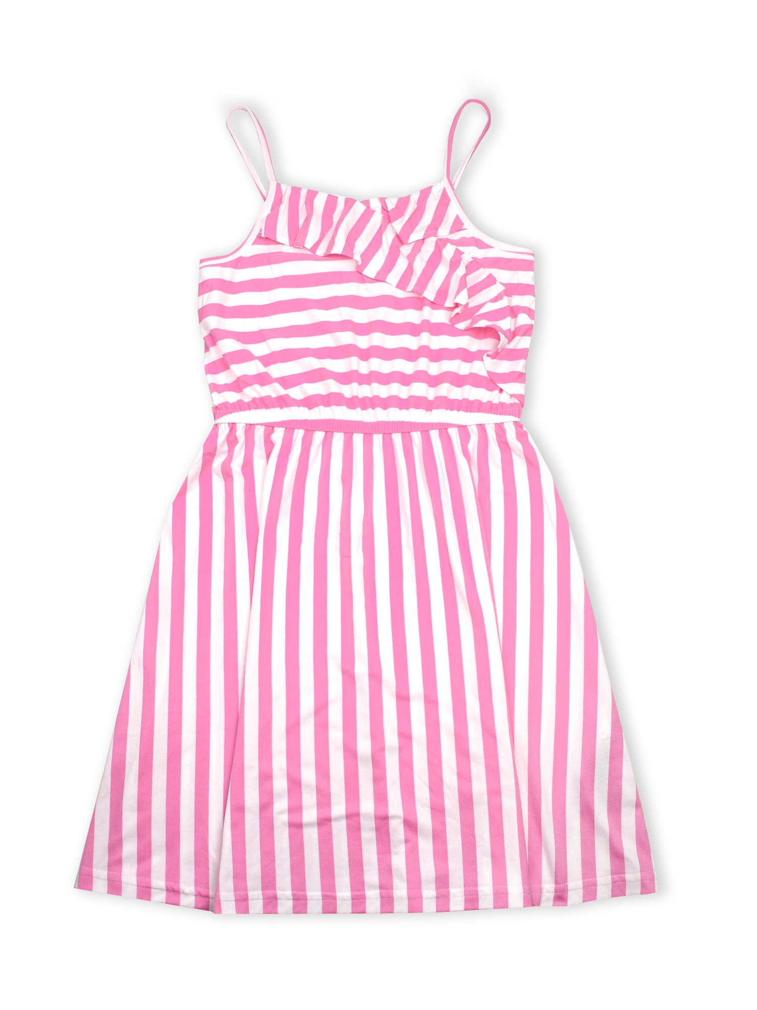 Ruffle Faux Wrap Yummy Dress (Big Girls)