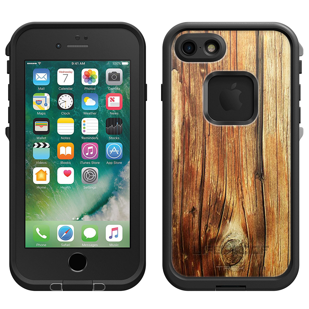 SKIN DECAL FOR LifeProof Apple iPhone 7 Case - Mature Wood Floors DECAL, NOT A CASE