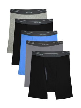 Fruit of the Loom Men's CoolZone Fly Dual Defense Assorted Boxer Briefs, 5 Pack