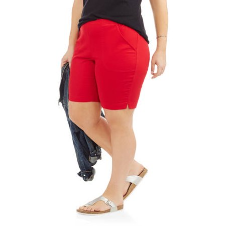 6ad28c2eba59a Just My Size - Women's Plus-Size 2 Pocket Pull-On Shorts - Walmart.com