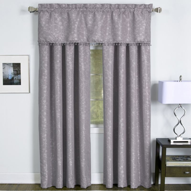 "Elrene Home Fashions Zen: Rod Pocket Unlined Valance Zen:  Rod Pocket Unlined Valance - 50"" X 16"""