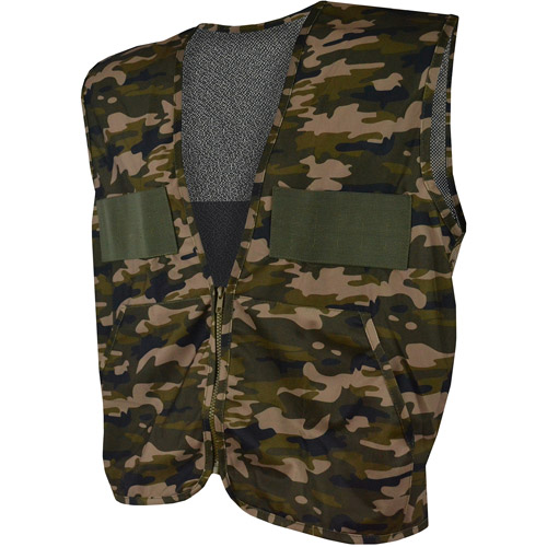 QuietWear Camo Hunting Vest with Game Bag, Brown Camo