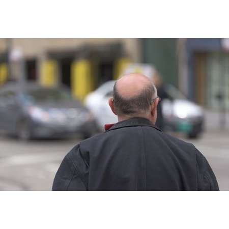 Laminated Poster White Grandfather Ears Back Old Grandpa Man Bald Poster Print 24 x - Bald Old Man