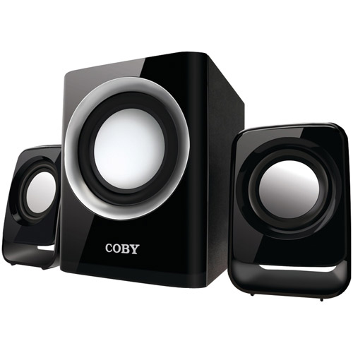 Coby CSMP67 50W High Performance MP3 Speakers