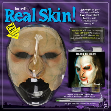 MU Real Skin Vampire Kit Adult Halloween - Real Vampire Teeth