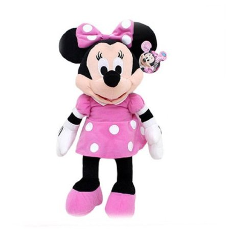Pink And White Minnie Mouse (disney mickey mouse clubhouse - minnie mouse 15 inch plush w/ pink dress and)