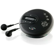 GPX PC332B Personal CD Player with FM Radio and 60 Second Anti-Skip Protection, Black