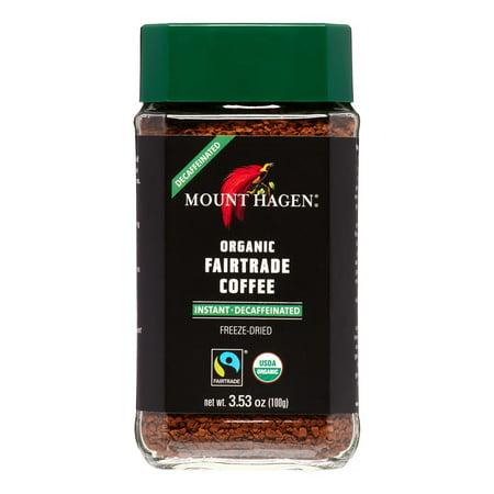 Mount Hagen Freeze Dried Instant Decaf Coffee, 3.53 Oz, 1