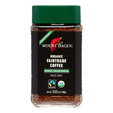Mount Hagen Freeze Dried Instant Decaf Coffee, 3.53 Oz, 1 Ct