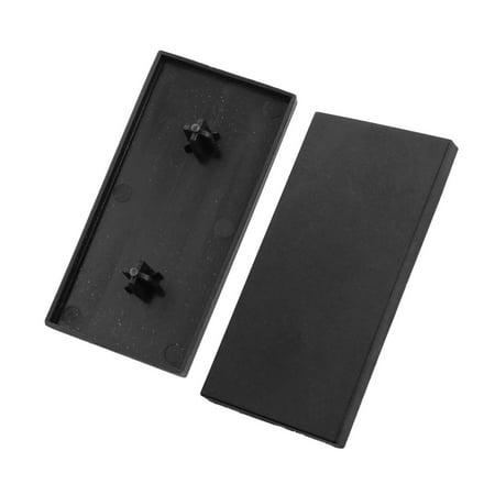 - T Slot Aluminum Profile Part Black Extrusion End Cap Cover 80mm x 40mm 2Pcs