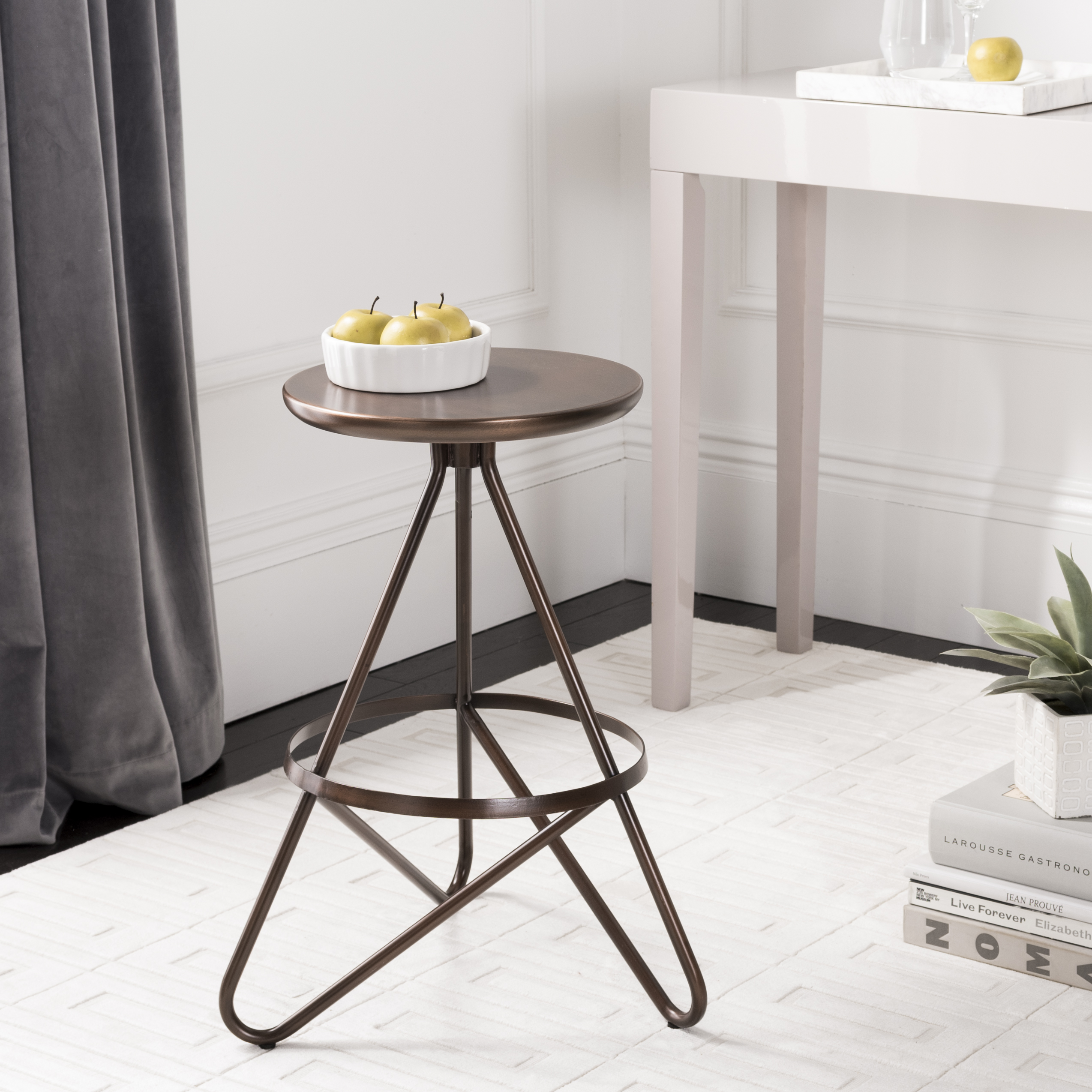 Safavieh Galexia Mid-Century Retro Metal Counter Stool