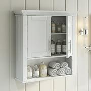 RiverRidge Somerset Collection 2-Door Bathroom Storage Wall Cabinet