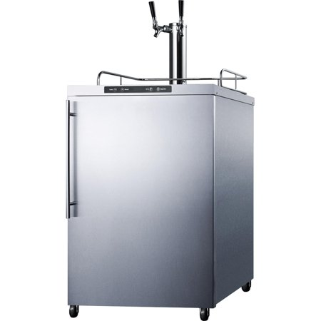 Summit SBC635MOS7HVTWIN 5.6 cu. ft. Freestanding Commercial Outdoor Beer Dispenser - Stainless (Best Rated Refrigerators 2019)