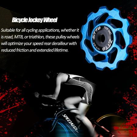 ZTTO 11T MTB Bicycle Rear Derailleur Jockey Wheel Ceramic Bearing Pulley  CNC Road Bike Guide Roller Idler 4mm 5mm 6mm