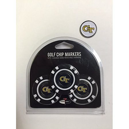 Georgia Chip (Georgia Tech Yell Jackets 3- PACK POKER CHIPS with markers BONUS EXTRA MARKER)