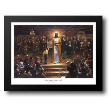 One Nation Under God 30x23 Framed Art Print by McNaughton, - Jon Mcnaughton Halloween Prints