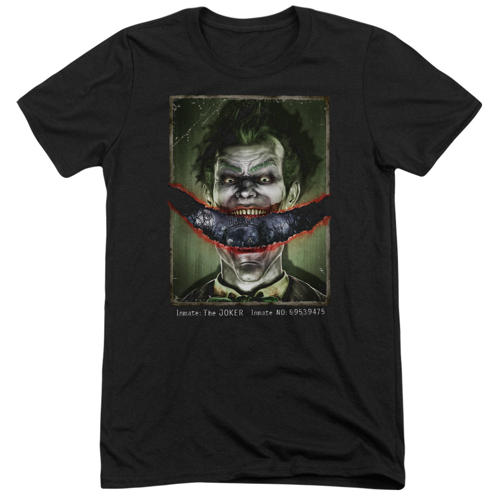 Batman Arkham Asylum Split Lip Mens Tri-Blend Short Sleeve Shirt