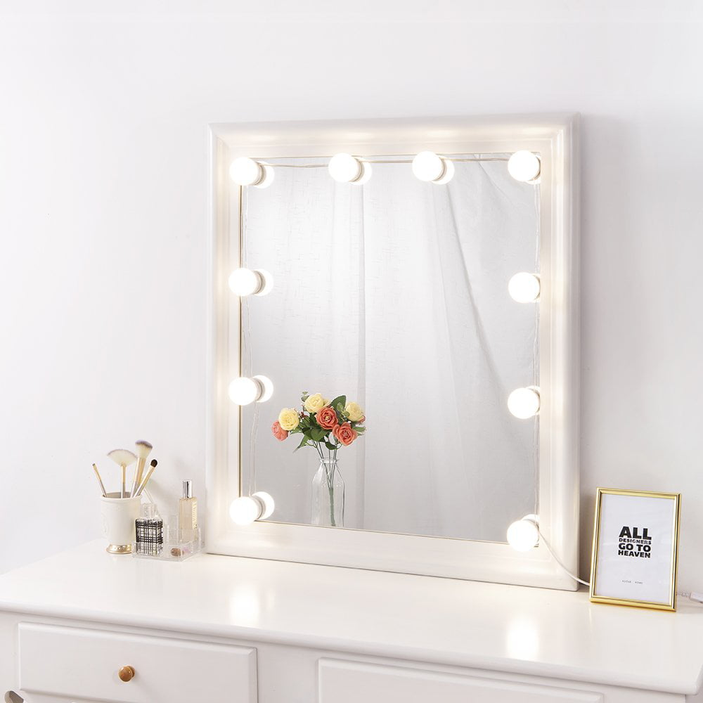 DIY Hollywood Lighted Makeup Vanity Mirror with Dimmable ...