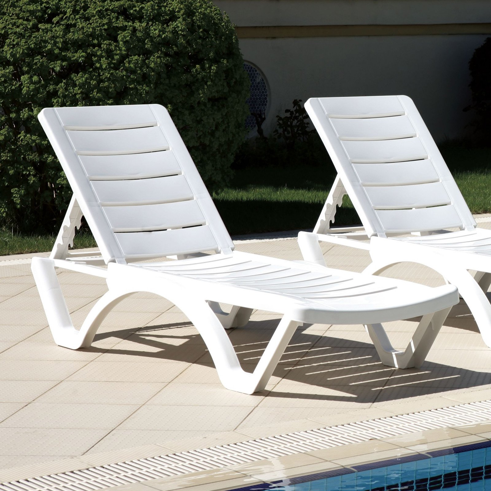 Compamia Aqua Pool Chaise Lounge - Set of 4